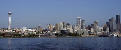Horizonte de la línea de costa de Seattle Imagen de archivo libre de regalías