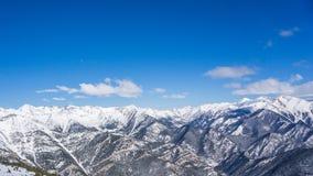 Horizonte de la nieve Foto de archivo libre de regalías