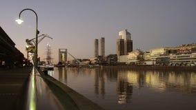Horizonte de la noche de Buenos Aires. Imagen de archivo