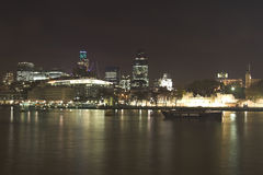 Horizonte de la noche de Londres Imagenes de archivo