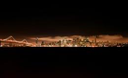 Horizonte de la noche de San Francisco Fotografía de archivo
