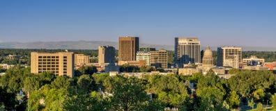 Horizonte de la opinión de la mañana de Boise Idaho Fotografía de archivo libre de regalías