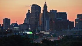 Horizonte de la oscuridad de Hartford, Connecticut almacen de video