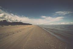 Horizonte de la playa con la arena y la perspectiva Foto de archivo libre de regalías