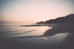 Horizonte de la playa con la arena y la perspectiva Imágenes de archivo libres de regalías