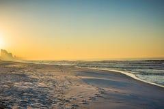 Horizonte de la playa de ciudad de Panamá, la Florida en la salida del sol foto de archivo libre de regalías