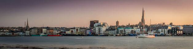 Horizonte de la puesta del sol de Wexford Imagen de archivo