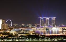Horizonte de la tarde de Singapur Fotografía de archivo libre de regalías