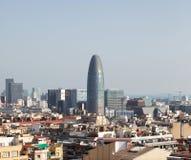 Horizonte de las glorias y de Barcelona de Torre foto de archivo libre de regalías