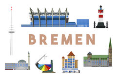 Horizonte de las señales de Bremen Fotos de archivo libres de regalías