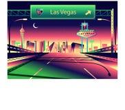 Horizonte de Las Vegas ilustración del vector