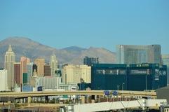 Horizonte de Las Vegas del aeropuerto Fotografía de archivo libre de regalías