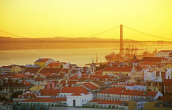 Horizonte de Lisboa fotografía de archivo libre de regalías