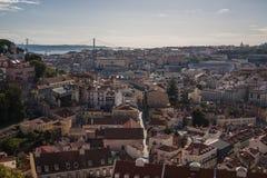 Horizonte de Lisboa Fotografía de archivo