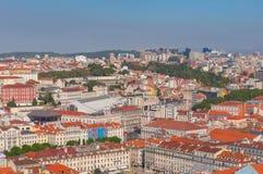 Horizonte de Lisboa, Portugal Imagenes de archivo