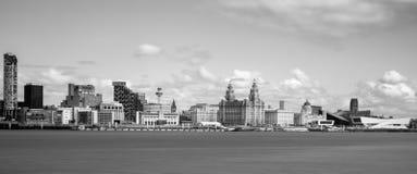 Horizonte de Liverpool Imagen de archivo libre de regalías