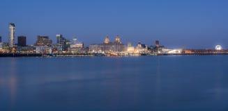 Horizonte de Liverpool Foto de archivo libre de regalías