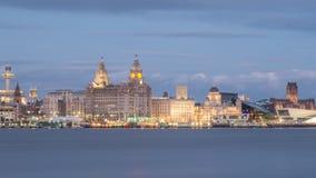 Horizonte de Liverpool Imagenes de archivo
