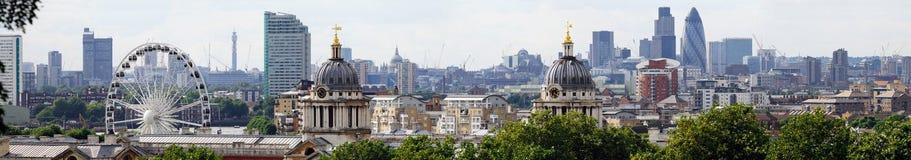 Horizonte de Londres de Greenwich Imágenes de archivo libres de regalías