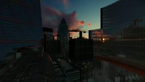 Horizonte de Londres en la salida del sol, 4K stock de ilustración