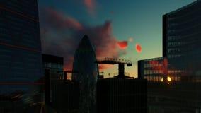 Horizonte de Londres en la salida del sol almacen de metraje de vídeo