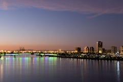 Horizonte de Long Beach Foto de archivo libre de regalías