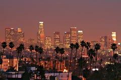 Horizonte de Los Ángeles Imagen de archivo libre de regalías