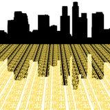 Horizonte de Los Ángeles con el texto ilustración del vector