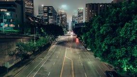Horizonte de Los Ángeles con la capa de nubes almacen de video