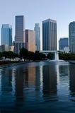 Horizonte de Los Ángeles de la madrugada foto de archivo libre de regalías