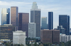 Horizonte de Los Ángeles en d3ia Imagen de archivo libre de regalías