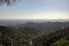 Horizonte de Los Ángeles en la distancia 6 Fotografía de archivo