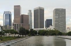 Horizonte de Los Ángeles en madrugada foto de archivo libre de regalías