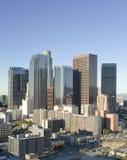 Horizonte de Los Ángeles en madrugada Fotografía de archivo libre de regalías