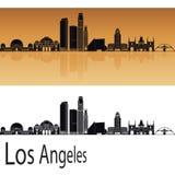 Horizonte de Los Ángeles en naranja stock de ilustración