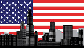 Horizonte de Chicago ilustración del vector