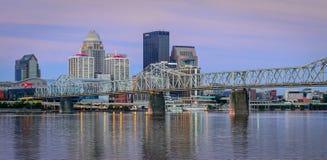 Horizonte de Louisville Foto de archivo libre de regalías