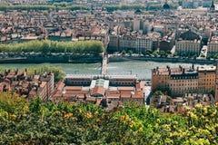Horizonte de Lyon Fotografía de archivo libre de regalías