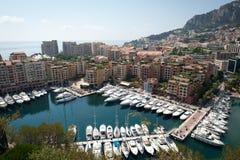 Horizonte de Mónaco Imágenes de archivo libres de regalías