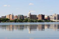 Horizonte de Madison Wisconsin Imagen de archivo