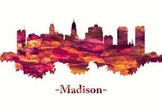 Horizonte de Madison Wisconsin en rojo libre illustration