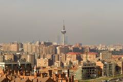 Horizonte de Madrid Fotos de archivo libres de regalías