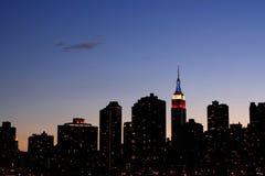 Horizonte de Manhattan fotografía de archivo libre de regalías