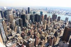 Horizonte de Manhattan Fotos de archivo libres de regalías