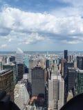Horizonte de Manhattan con Central Park imagen de archivo