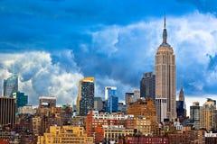Horizonte de Manhattan - de New York City Imagen de archivo libre de regalías