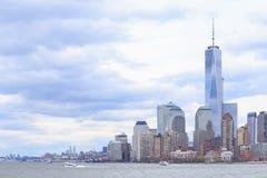 Horizonte de Manhattan más baja de Nueva York Imágenes de archivo libres de regalías