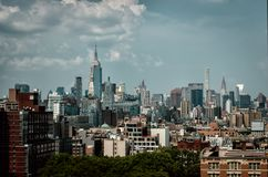 Horizonte de Manhattan, New York City foto de archivo