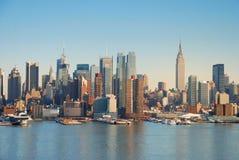 Horizonte de Manhattan, New York City fotografía de archivo libre de regalías