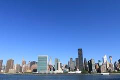 Horizonte de Manhattan, New York City Foto de archivo libre de regalías